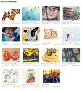 Etsy Watercolor Wonders Treasury